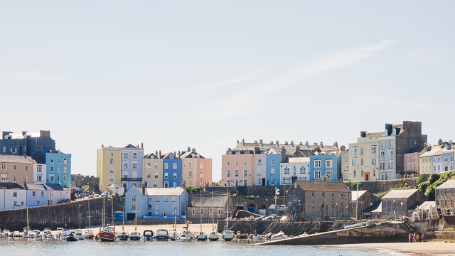 view of colourful houses in tenby