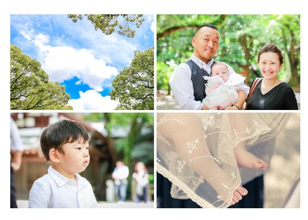 名古屋でお宮参り・100日祝いの出張撮影 男の子の赤ちゃん