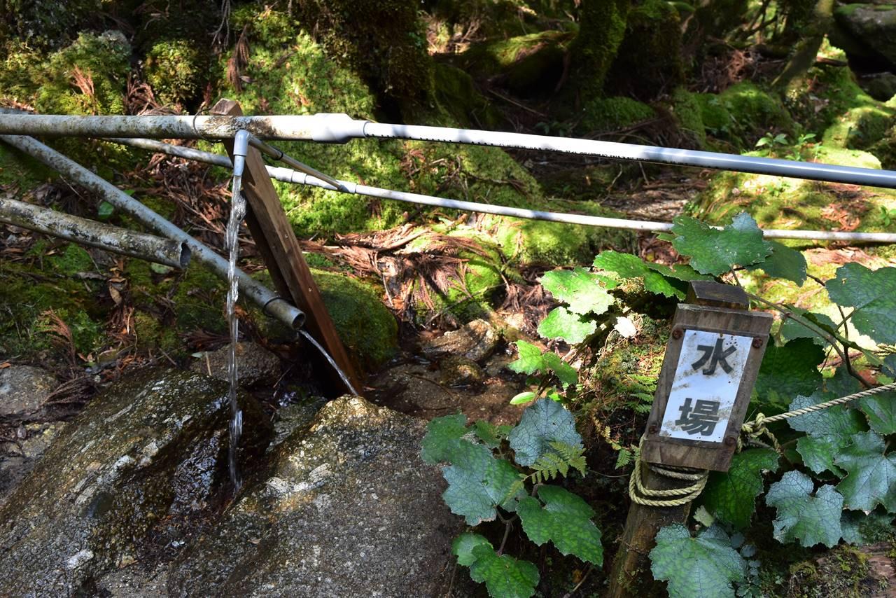 白谷山荘の水場