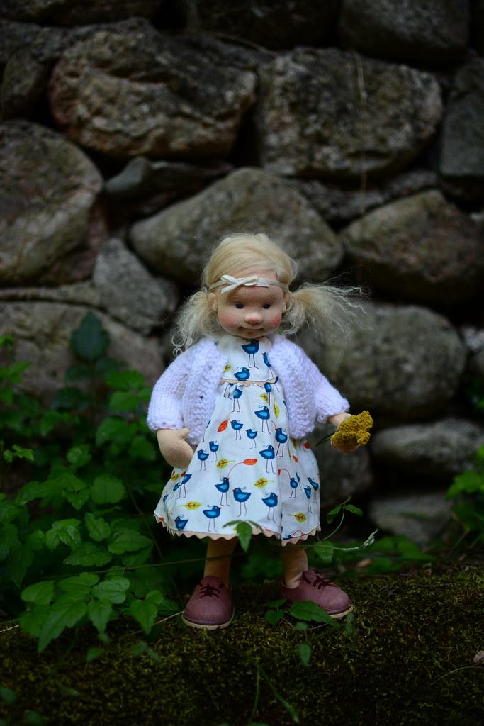 OOAK Natural fiber art doll Ida