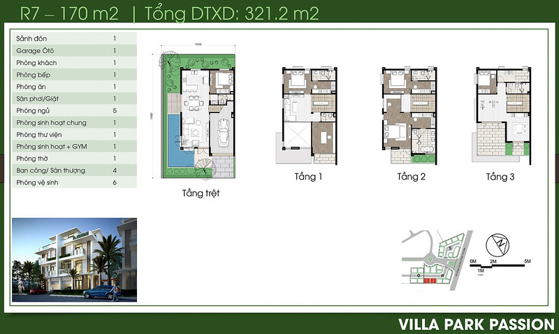 Biệt thự song lập Villa Park Passion R7 2