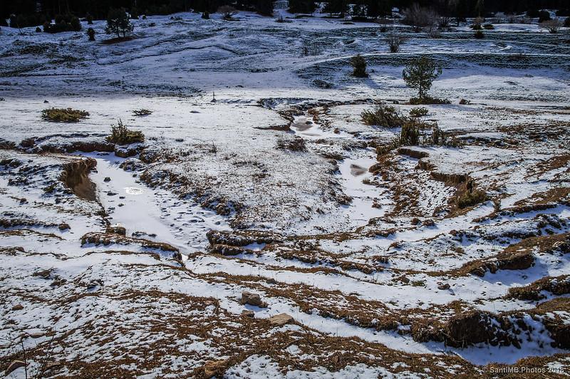 Río de Peguera cubierto de nieve