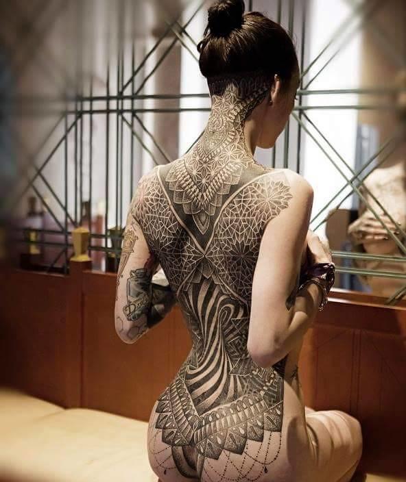 Full Back Tattooed Girl Full Back Tattooed Girl Flickr
