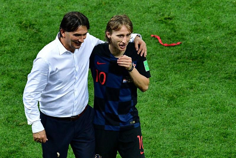 克羅埃西亞總教練Zlatko Dalic(左)和隊長Luka Modric(右)。(AFP授權)