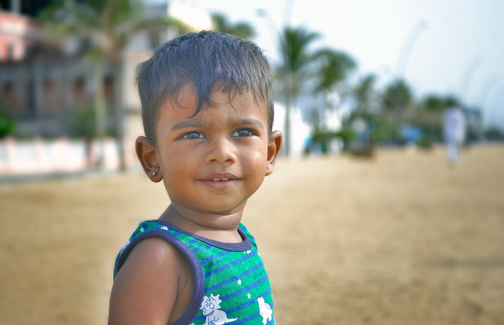 smiling indian baby boy on beach quotsmiling indian baby