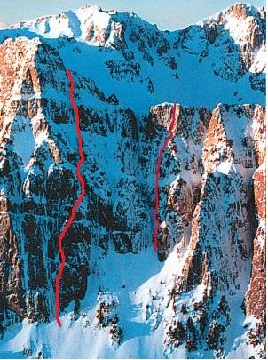 Η χάραξη της νέας διαδρομής, δεξια η Άγριοφράουλα (φωτ. routes.gr)