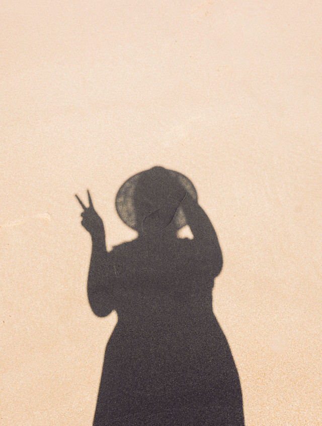 my shadow in the sand