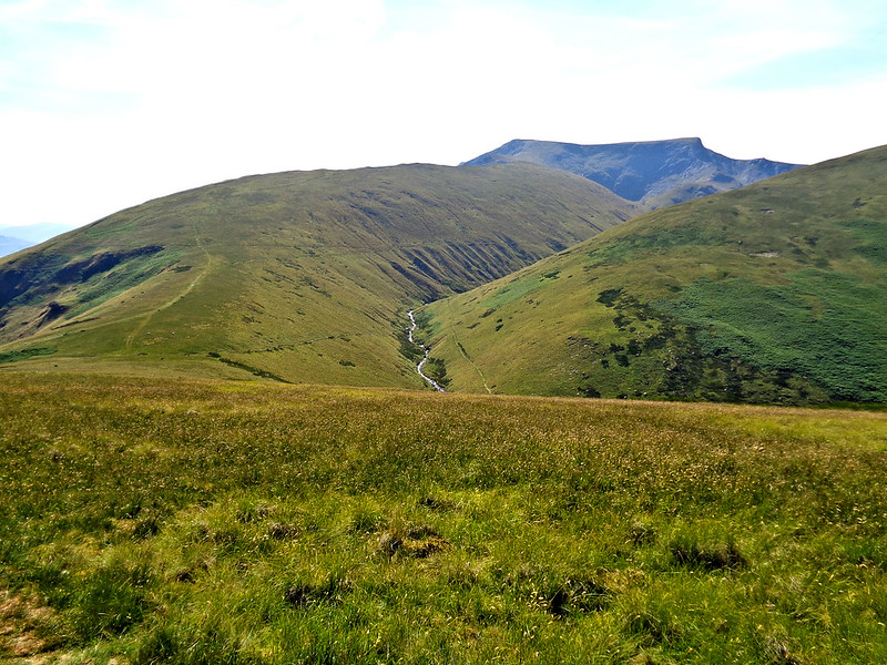 Looking down into Glenderamackin valley