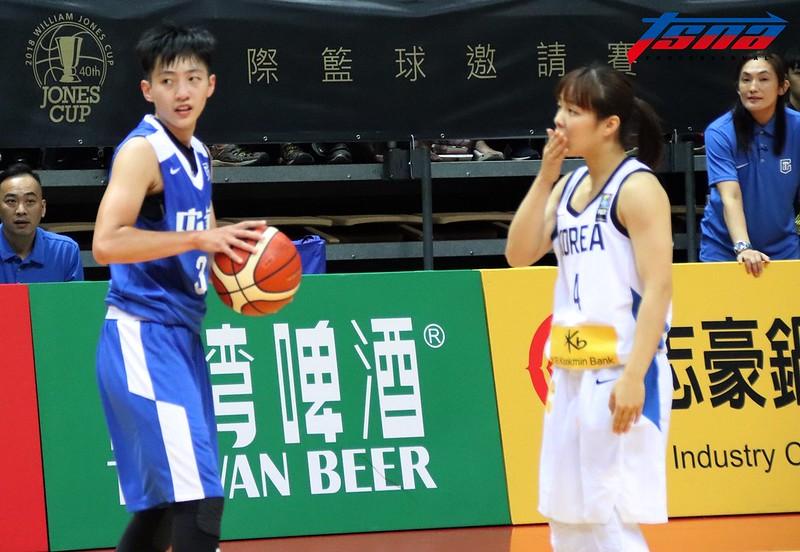 劉希曄(左)面對韓國球員防守相當凶悍。(林志儒/攝)