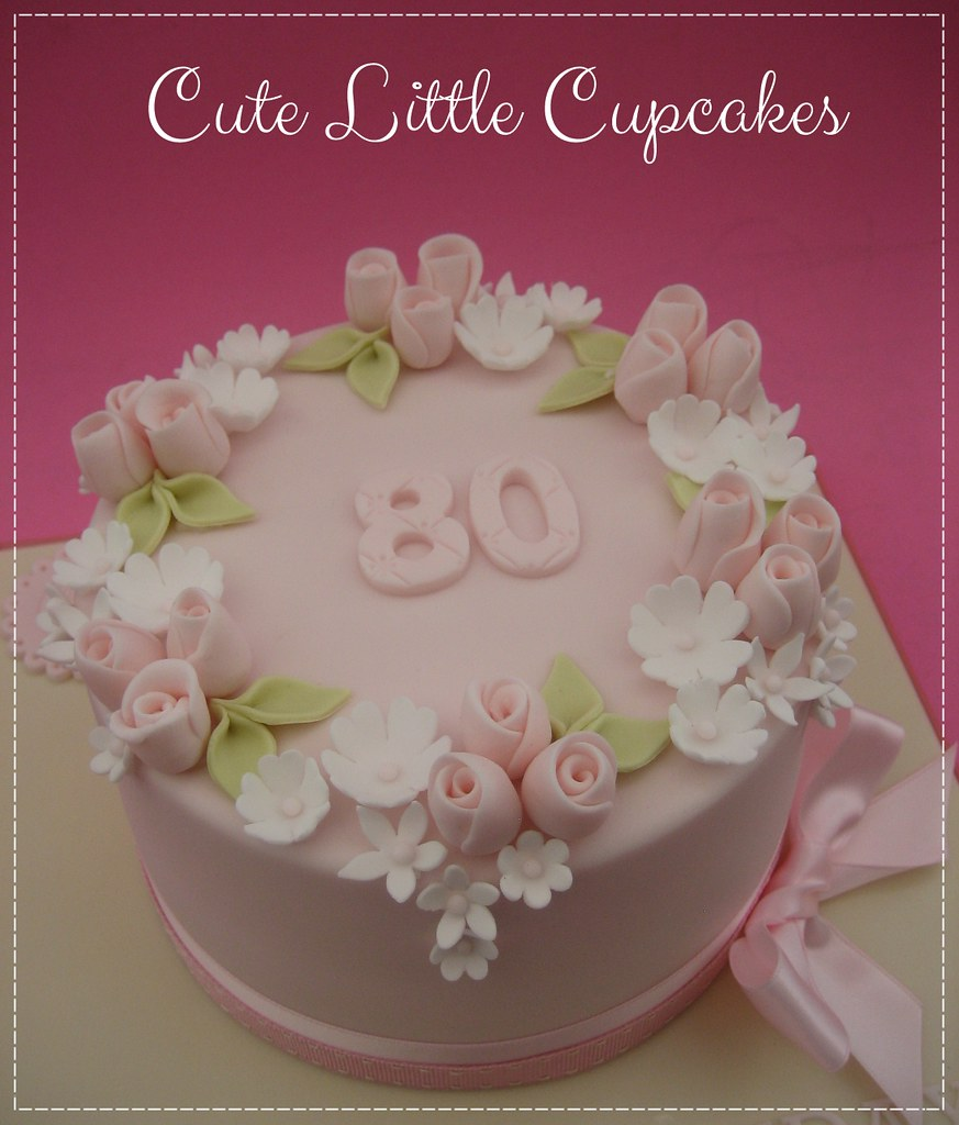 Vintage Style 80th Birthday Cake Heidi Stone Flickr