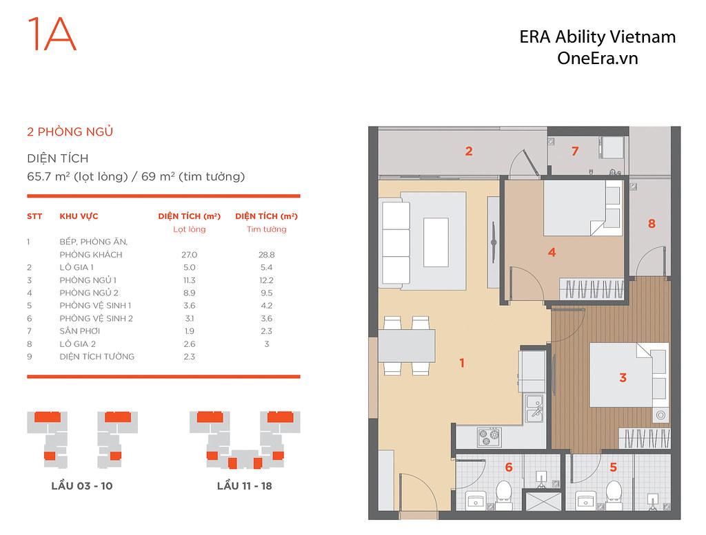 Mặt bằng tầng và thiết kế căn hộ Hausneo 40