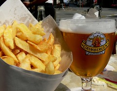 Belgian beer and belgian chips | by Lo M