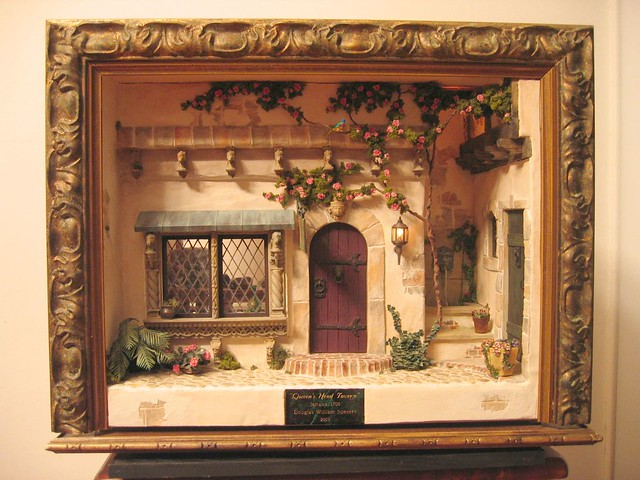 Miniature Children S Bedroom Room Box Diorama: Queen's Head Tavern- Miniature Roombox 2003 -Full Front Vi