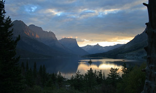 Glacier National Park sunset. | by backpackphotography