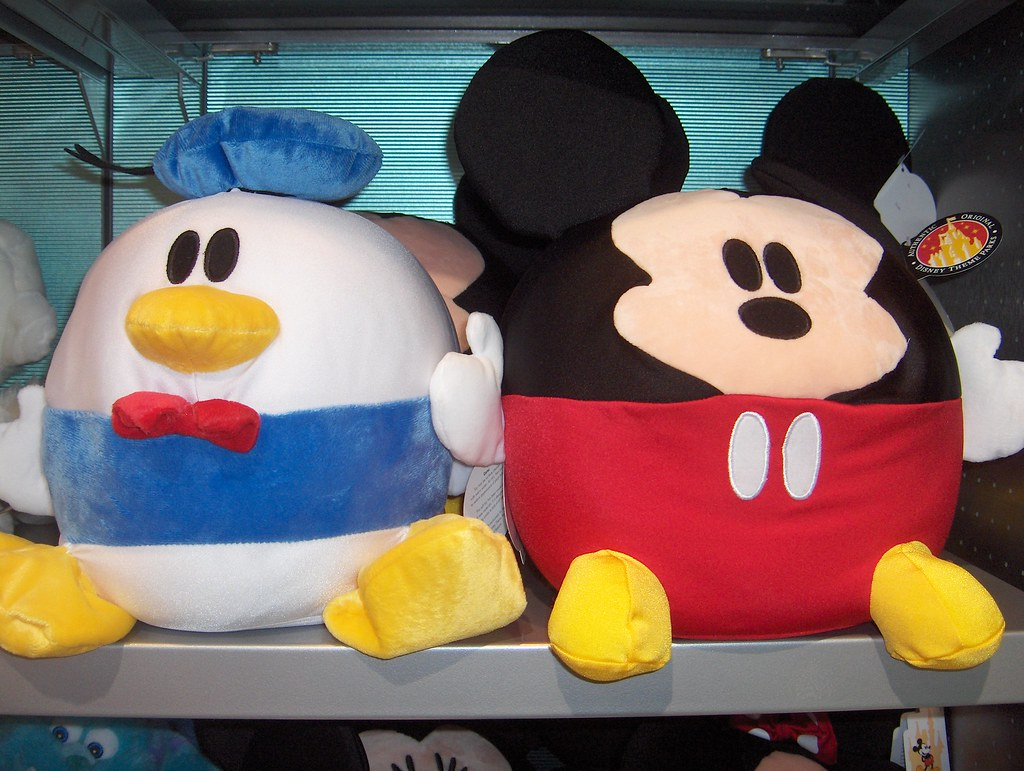Cute Soft Round Things | Donald and Mickey plush balls ...