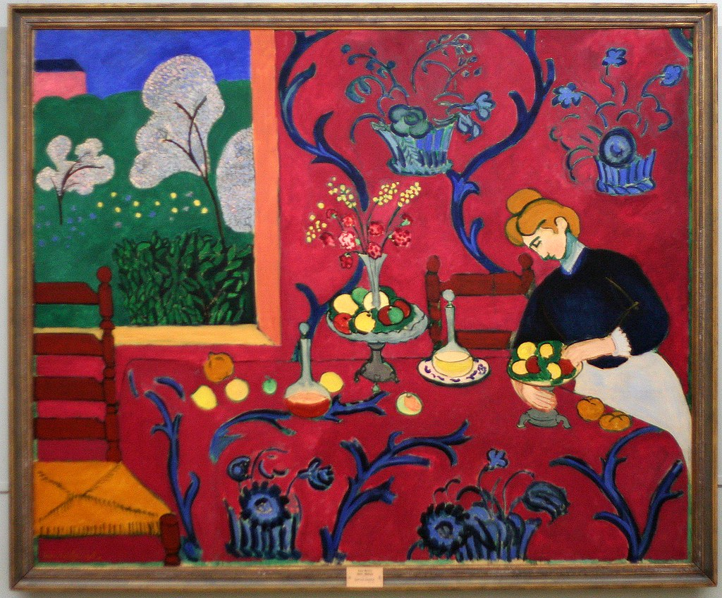 Henri matisse le chambre rouge harmonie rouge 1908 i for Interieur rouge matisse