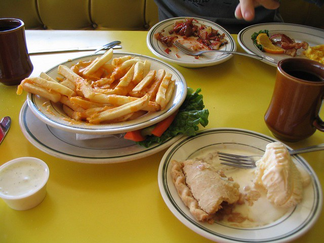 diner food coffee apple pie la mode cheese fries t flickr. Black Bedroom Furniture Sets. Home Design Ideas