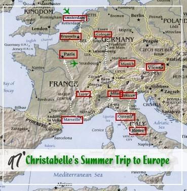 1997歐遊路線圖