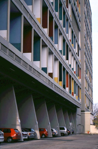 facade unite d 39 habitation berlin architect le corbusie flickr. Black Bedroom Furniture Sets. Home Design Ideas