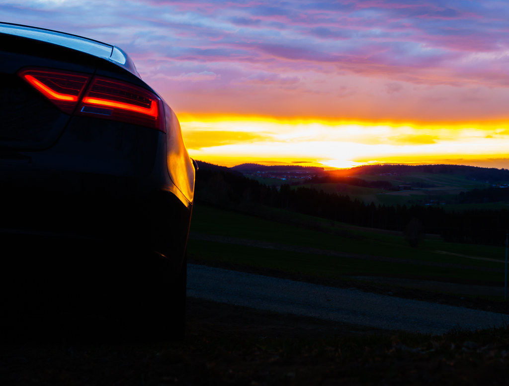 Audi A Audi A Dramatic Sunset Audi Audia Sunset Bac Flickr - Sunset audi