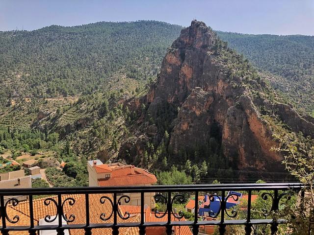 Vistas de Aýna desde el Hostal Miralmundo