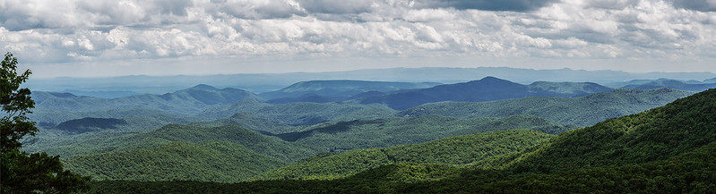 View from atop Beacon Heights on the Blue Ridge Parkway