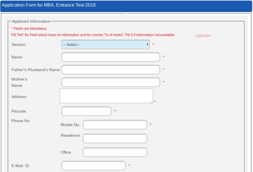UOU MBA Application Form 2018