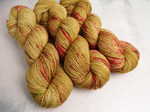 Favourite Sock – hand-dyed pure merino superwash wool 4 ply/sock yarn 100g – 'Cider Season'