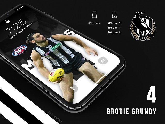 Brodie Grundy (Collingwood Magpies) iPhone Wallpaper