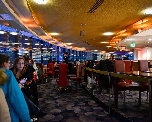 Interior del restaurante de Nueva York