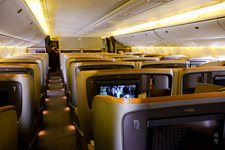 Business Class cabin on the 777-300ER | by A. Wee