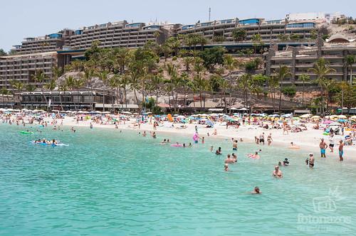 Playa de la Verga, Anfi del Mar en Gran Canaria