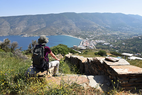 Enjoying the view, Ormos Korthiu route, Andros | by BuzzTrips