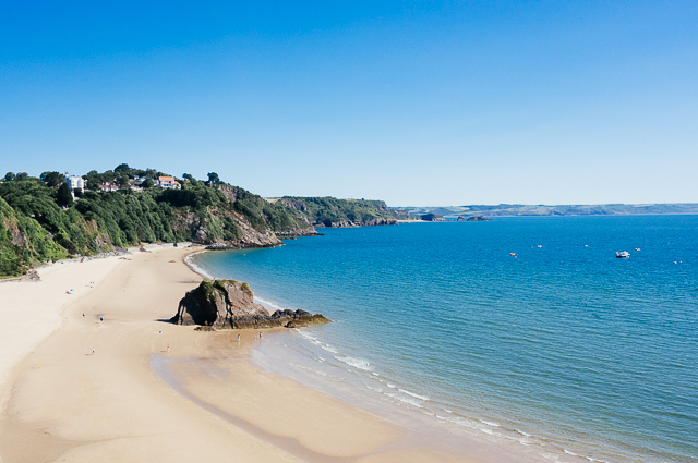 view of north beach, tenby