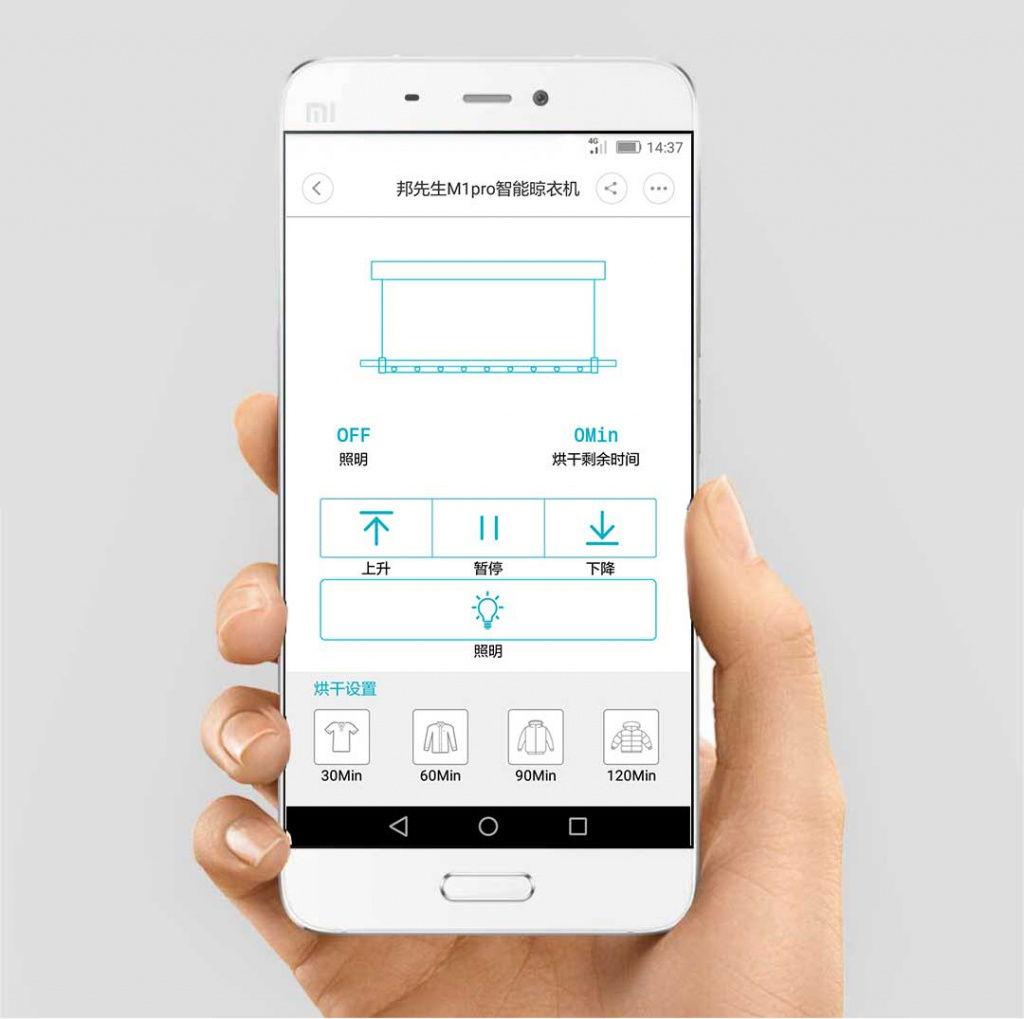 venta al por mayor nueva llegada características sobresalientes Xiaomi lanza una secadora de ropa que se cuelga del techo ...