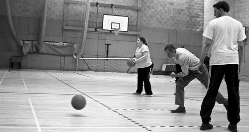 Goalball practice 2018 6 | by Aniridia Network UK