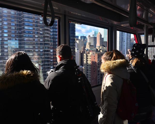 Vistas desde el teleférico de Nueva York