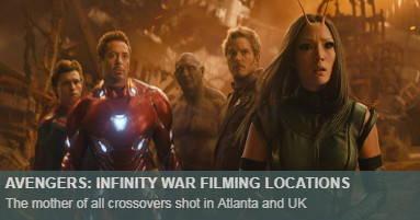 Infinity War Locations