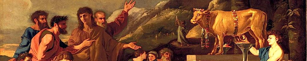Великий грех еврейского народа из-за поклонения тельцу в пустыне.