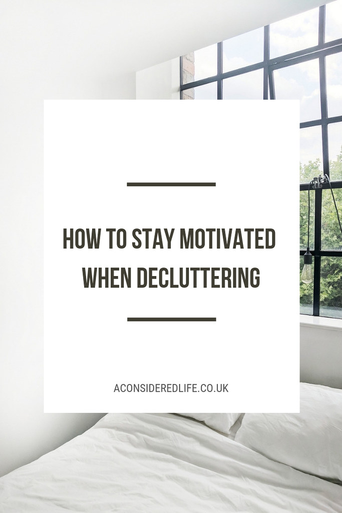 Staying Motivated While Decluttering