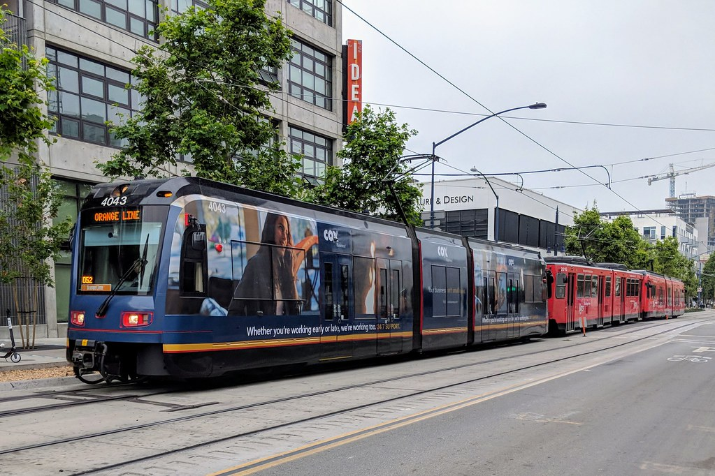 San Diego Trolley With Cox Cable Wrap So Cal Metro