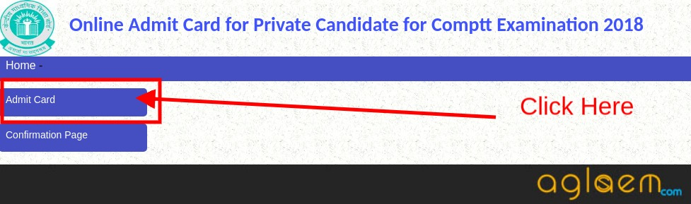 CBSE Compartment Admit Card 2018 for Private Candidates
