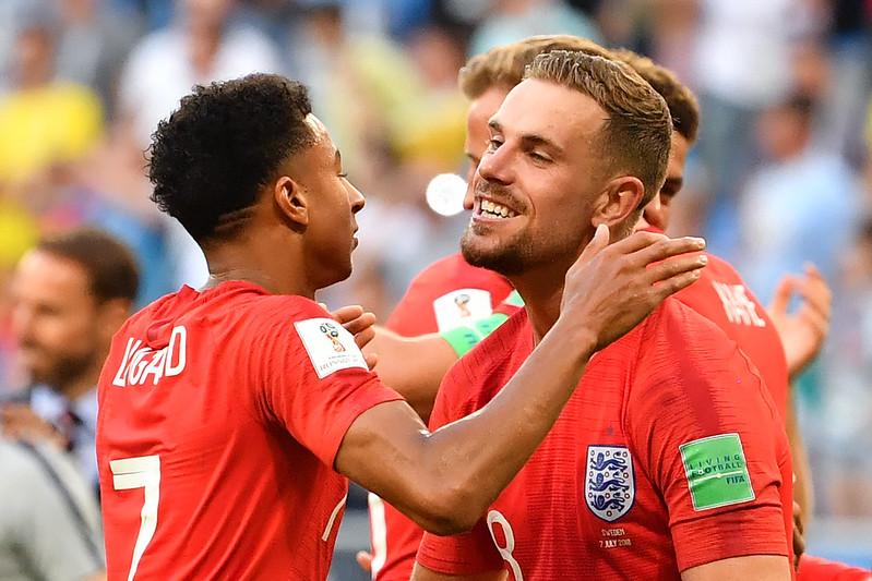 英格蘭相隔28年再度闖進世界盃4強。(AFP授權)