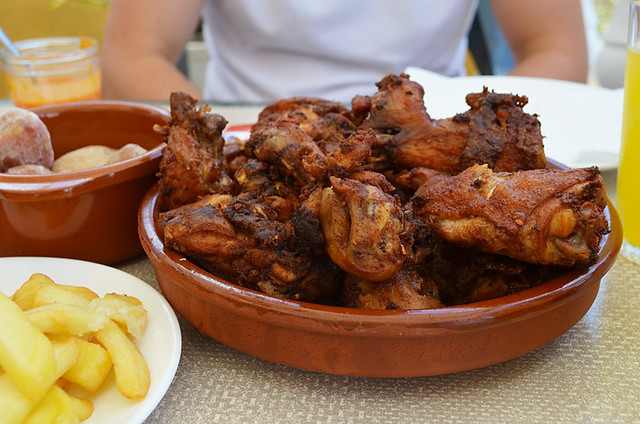 Garlic chicken, Adeje, Tenerife
