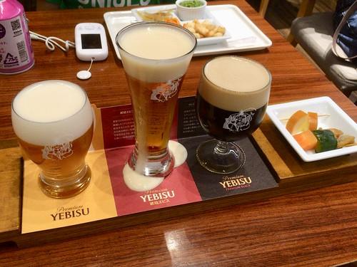 ヱビスビール記念館で飲み比べセット 2018.4.22