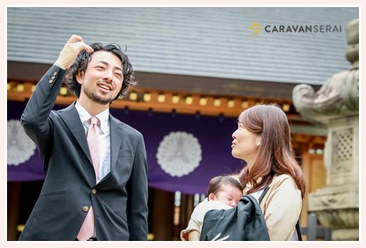 フリーカメラマンが撮るお宮参り・100日祝い 塩竈神社(名古屋市天白区)