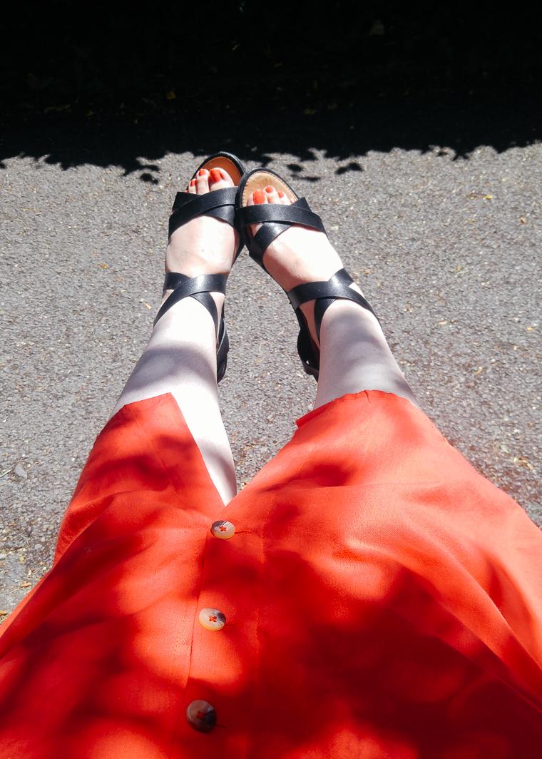 sunbathing on my lunch break