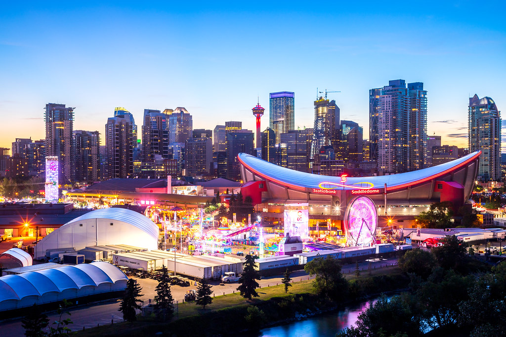 Calgary Stampede Night Time Calgary Stampede Was A Last