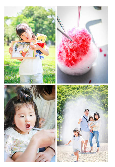 フリーカメラマンが撮る家族写真撮影 in 庄内緑地公園(名古屋市西区)