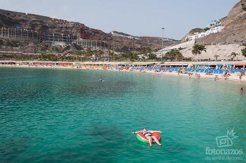 Playa de Amadores al sur de Gran Canaria